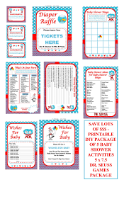 dr seuss baby shower game printable seuss games cat in the