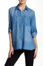 chambray blouse just living chambray blouse nordstrom rack