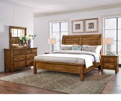 maple road 4pc queen bedroom set amish cherry levin furniture