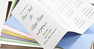 printing wedding programs specialty paper invitation paper and specialty cardstock