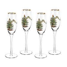 spode tree chagne fluted glasses set of 4 spode usa