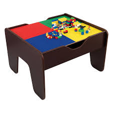 amazon com kidkraft 2 in 1 activity table espresso toys u0026 games