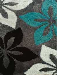 Teal Shag Area Rug Floral Grey With Turquoise Indoor Bedroom Shag Area Rug Bedrooms