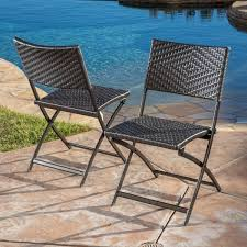 Outdoor Table And Chair Set Christopher Knight Home El Paso Outdoor Brown Wicker Folding Chair