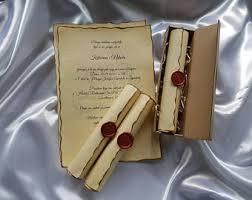 Diy Scroll Invitations Scroll Invitation Etsy
