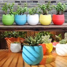 Cute Succulent Pots Aliexpress Com Buy Cute Candy Colors Bonsai Flower Pots Round