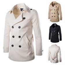 aliexpress buy 2016 new european men 39 s jewelry buy 2016 men s white black trench jacket coat sobretudo psg