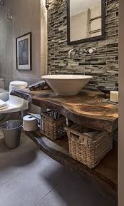 Backsplash Bathroom Ideas by Rustic Farmhouse Bathroom Ideas Simple Green Plant On Pot Wood