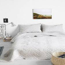 textured grey chevron duvet
