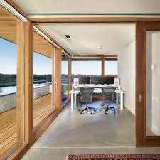 Large Home Office by Home Interior Open Space Home Office Design With Large Glass