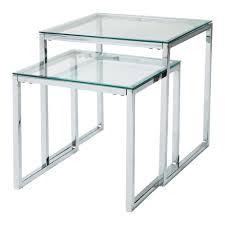 Schreibtisch Aus Glas Satzcouchtische Aus Glas Und Metall B 40 Cm 45 Cm Lexington