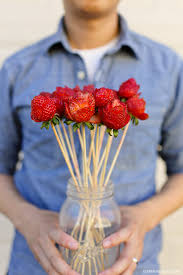 how to make fruit arrangements how to make strawberry roses a fruit bouquet diy