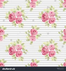 cute seamless shabby chic pattern roses stock vector 485219563