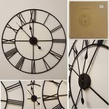 large elegant cream mirror wall clock 28 inch diameter metal