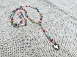diy rosary diy rosary necklace bead crafts craftbits