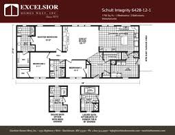 schult modular home floor plans schult integrity 6428 12 1 excelsior homes west inc