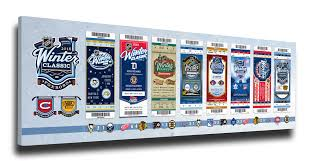 2016 nhl winter classic tickets to history canvas print