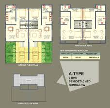 Bungalow Plans Twin Houses Plans House Plan
