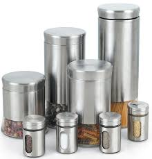 metal kitchen canister sets 8 spice jar set contemporary kitchen canisters and jars