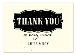 seeded paper thank you cards on seeded paper west by
