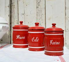 enamel kitchen canisters set of french vintage enamel canisters with the coffee pot kitchen