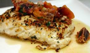 the bitten word sear roasted halibut with blood orange salsa