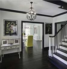 gray walls white trim floors by manda color design