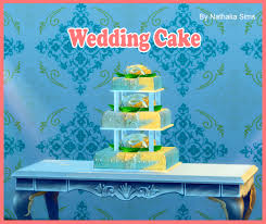 wedding cake the sims 4 wedding cake at jomsims creations via sims 4 updates click picture
