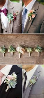 groomsmen boutonnieres 46 best ideas to incorporate succulents into your weddings