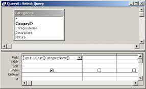 ms access ucase function