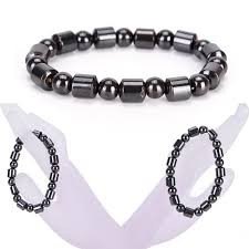 bracelet health magnetic images Weight loss round black stone magnetic therapy bracelet health jpg