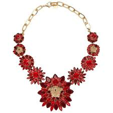 red chain necklace images Versace gold double chain necklace w crystal embellished medusa jpg