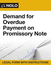 demand for overdue payment on promissory note legal form nolo