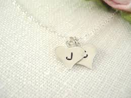 sterling silver personalized jewelry initial necklace sterling silver sted personalized