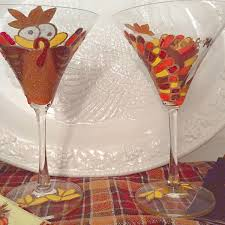 thanksgiving glassware painted