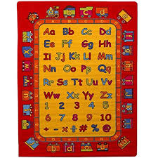 Childrens Area Rugs Rug Abc Learning 5 X 7 Children Area Rug Non Skid Gel