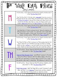 first week lesson plan ideas for 2nd grade i chose this because it