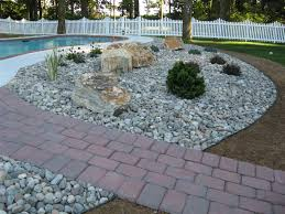 River Rock Garden Bed Landscaping With Rocks And Stones River Stones Boulders With