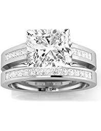 interlocking engagement ring wedding band womens bridal sets