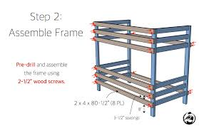 Free Bunk Bed Plans 2x4 by 2x4 Bunk Bed Rogue Engineer
