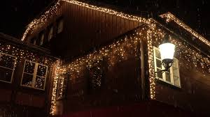 house decoration with net close up big house decorated with white glowing lights on