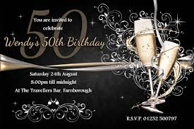 birthday invites stylish 50th birthday party invitations designs