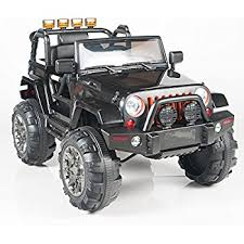 electric jeep for kids amazon com kids 12v electric power ride on jeep truck with big
