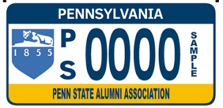 penn state alumni license plate millions of pa motorists let their license plate do their talking