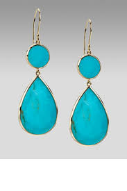 turquoise drop earrings 2012 turquoise jewelry trend coralia leets frame