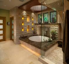 candle ledges bathroom asian with frosted glass door asian
