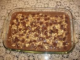 chocolate chip oatmeal cake recipe cdkitchen com