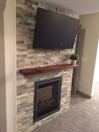 master bedroom accent wall with tv electric fireplace lennox brick