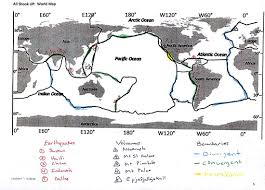 Plate Tectonics Map Dynamic Earth Unit Frankford Science