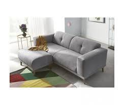 canapé et pouf assorti bobochic canape 3 places avec pouf enjoy gris clair